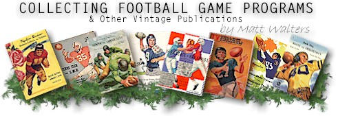 Collecting Football Game Programs